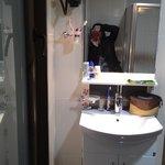 sparkling clean toilet