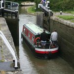 a 2 mt drop at the bottom lock
