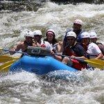 Entering the rapids