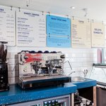 The Creperie Menu and our Rocket Coffee Machine