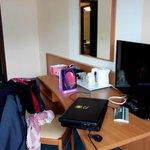 Le bureau et la télé