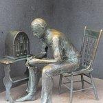 Fireside Chat sculpture, Franklin Delano Roosevelt Memorial, April 2014