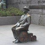 FDR wheelchair sculpture, Franklin Delano Roosevelt Memorial, April 2014
