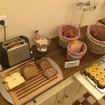 Some of the breakfast selection
