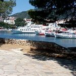 View of Skiathos harbour from other side