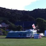 Sparkhayes campsite with Porlock hill