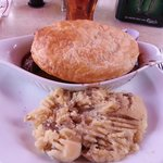 Guinness Steak & Mushroom Pie with mashed