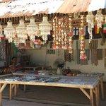 Souvenirs stall at Puka beach entrance