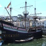 Sir Francis Drake's Golden Hind in Brixham harbour