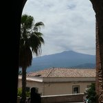 Mount Etna from the Greek Theatre, Taormina