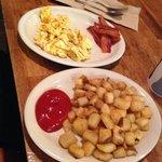 Eggs scrambled & side of bacon