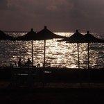 Romantic views at the beach bar