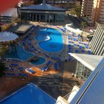 The pool veiw from our room, floor 10