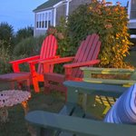 Sunset in the chairs