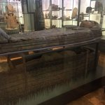 Real life mummy and tomb