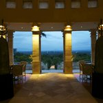 evening in the main dining room -- Borobudur in the distance