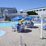 Outdoor Pool Main Building with Slide