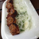 shashrik of duck's meat. I recommend it!!