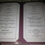 Terrace menu...mmmm