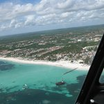 Beach from helicopter