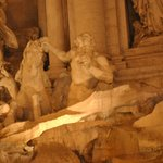 at Trevi Fountain by night