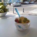 Mango frozen yogurth