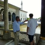 A very relaxing walk in the Topkapi. Ali explaining facts about the harem.