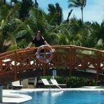 Bridge over Elegance club pool near our room