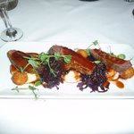 delicious main course of duck
