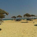 het zicht vanop de strandstoel