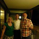 Myself,my husband and the chef David.