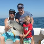 CDK Sharkslayer and Trever and Jax Kagin with a permit from May 2014