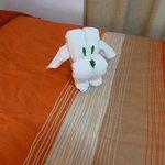 decoración con las toallas