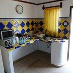 área de cocina en la habitación
