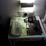 The side desk of the bed