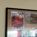 This is the picture of their fries on the wall. Not what you really get for sure!!