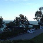 Vue du fleuve St-Laurent à partir de la terrasse du Manoir