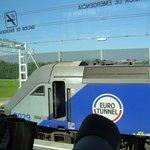 Máquina del Tren de Eurotunel para cruzar el Canal de la Mancha
