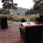 The view of smugglers cove Mendocino from the Brewery Gulf Inn.