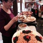 Carol Beazley enjoying supper!