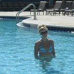 Enjoying a quiet pool