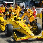 the number 3 of helio castroneves, with crew...