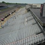 view from the 'pagoda' toward turn four...