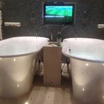 world cup, bath and beer.. Everyones a winner!