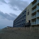 Beachside view of the hotel & 2nd floor beach access
