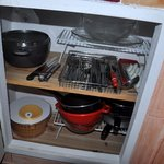 Well equipped cupboard
