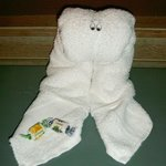 One of the many lovely towel animals