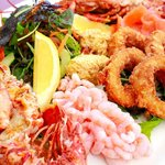 Sharing seafood plate