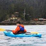 Kayaking at Orca Island Cabins