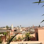 View of the medina from the rooftop terrace.